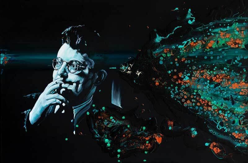 Portrait Aquarell Kozeptkunst: Izzy Stone - Isodor Feinstein Stone Portrait