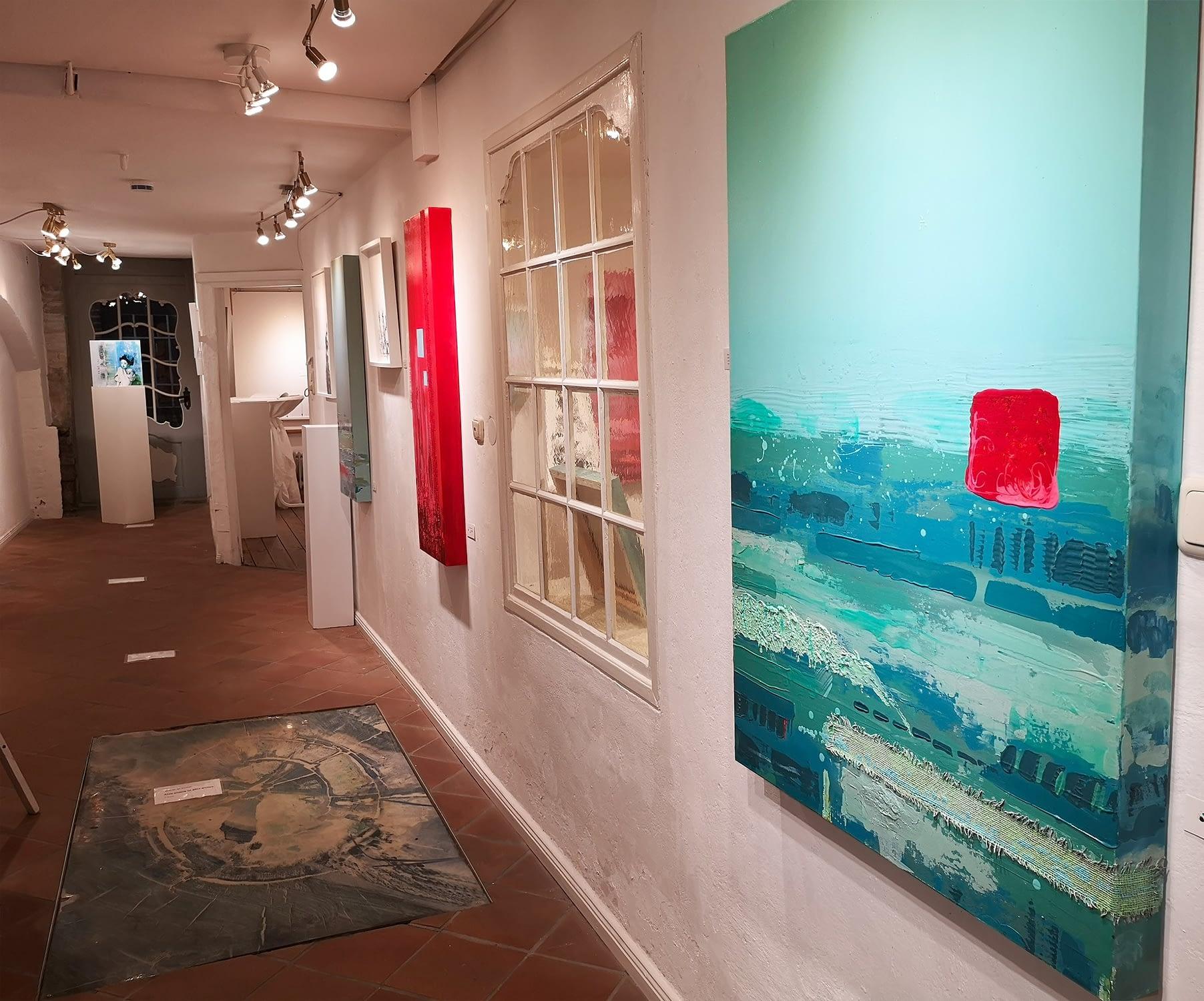 Kunstausstellung Les lignes du chaos: Impression der Hauptwand