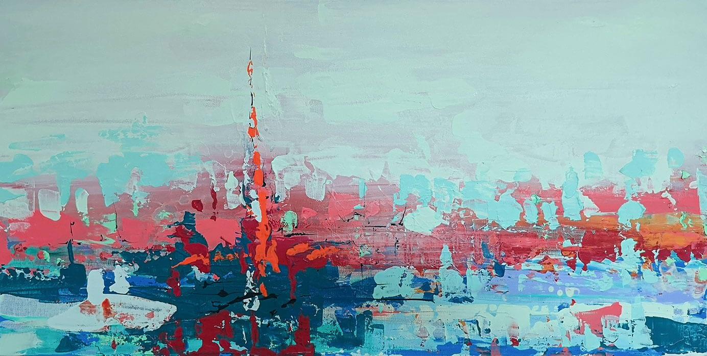 Ute Bescht Kunstwerke - Abstract Series: Beacon for life