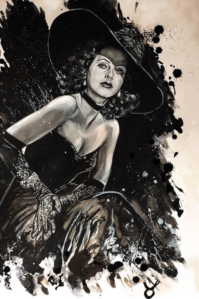 Ute Bescht Kunstwerke: Hedy Lamarr Portrait