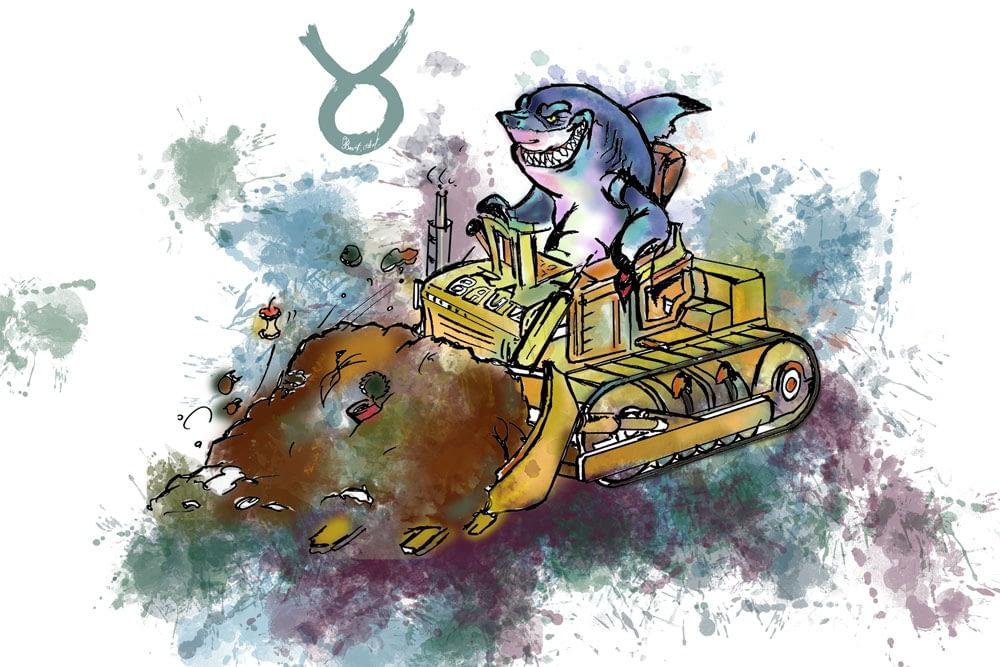 Buch: Haie auf Bulldozern & andere Verwandten - colorierte Comic Pop Werke Ute Bescht - Buch - und Seminarunterlagen Illustrationen