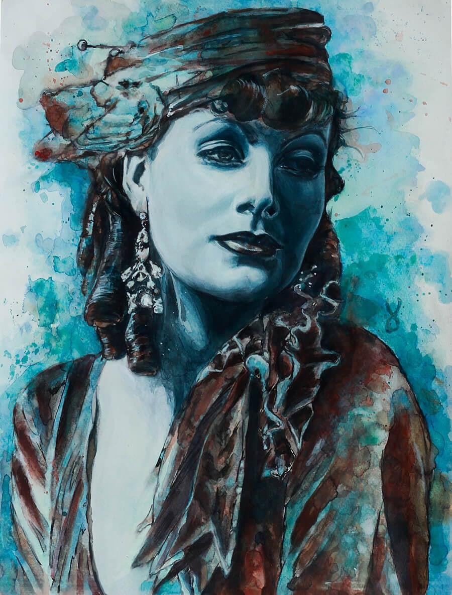 Ute Bescht Kunstwerke: Greta Garbo