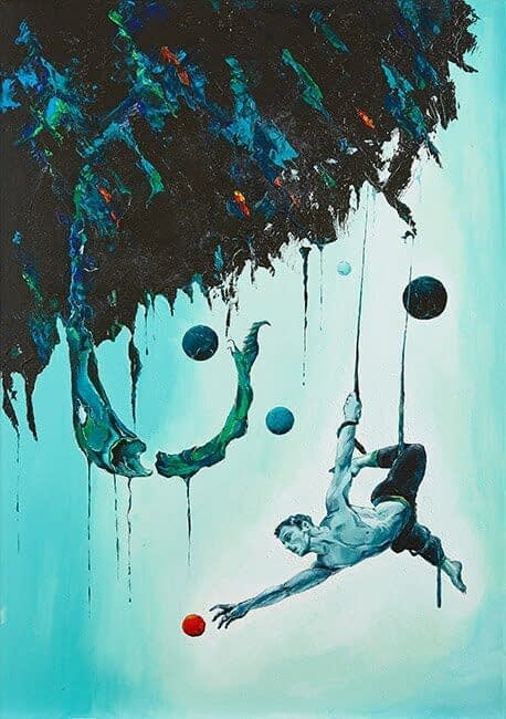 Portrait Aquarelle : Acrobacy of life