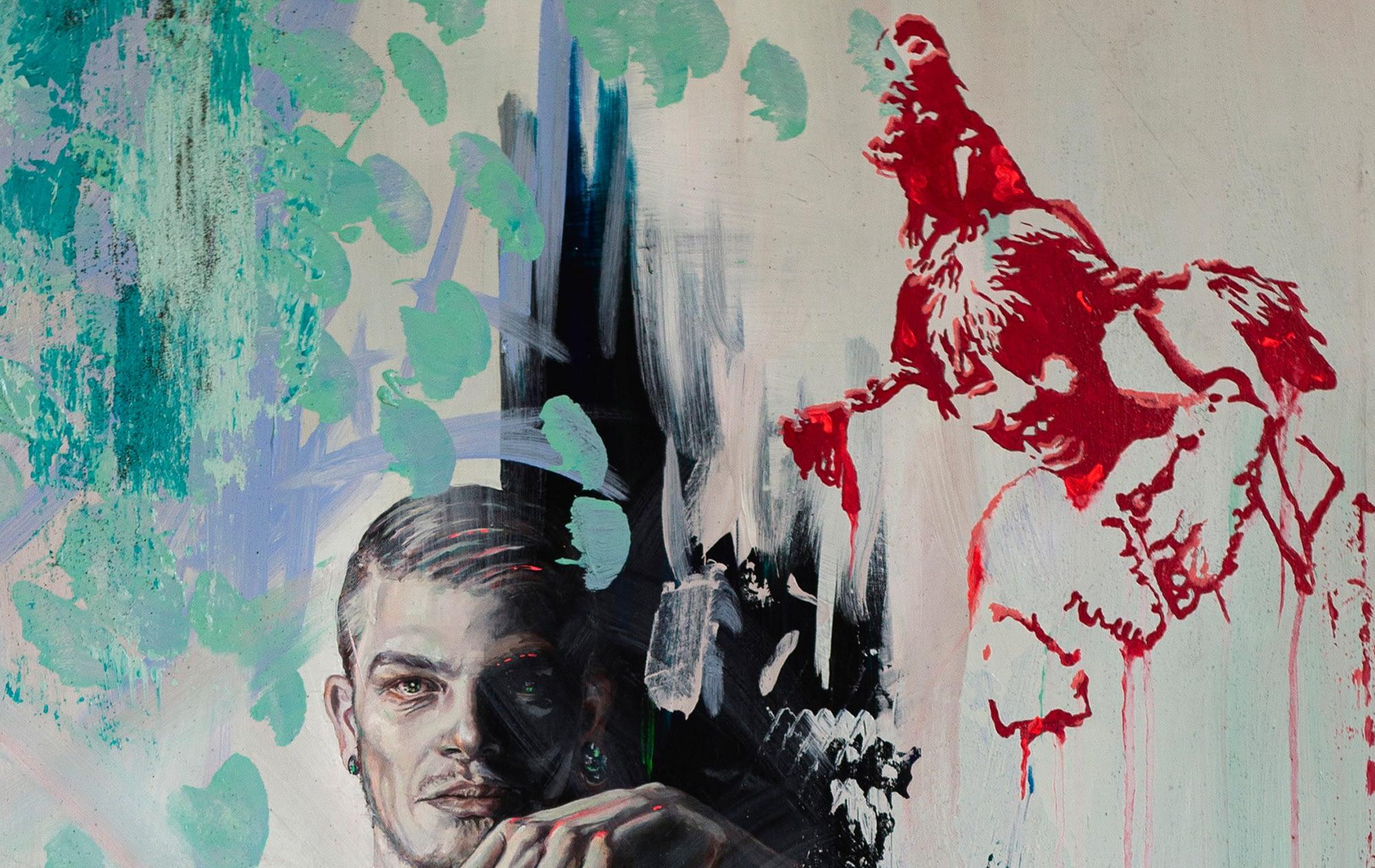 Ute Bescht Kunstwerke: LOVE-POT-PEACE-Pippi Longstocking-BanksyNEW