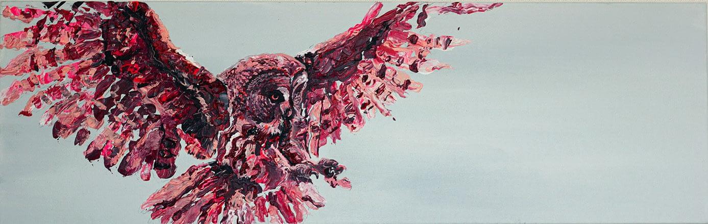 Portrait Aquarelle Konzeptkunst: The bait dilemma:Owl