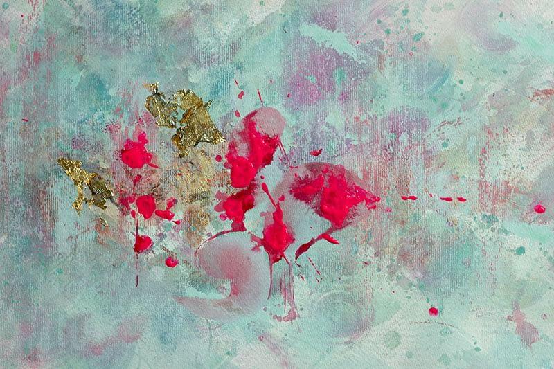Ute Bescht - Abstraktionen mit Farbpsychologie & Kraft- The love of life itself