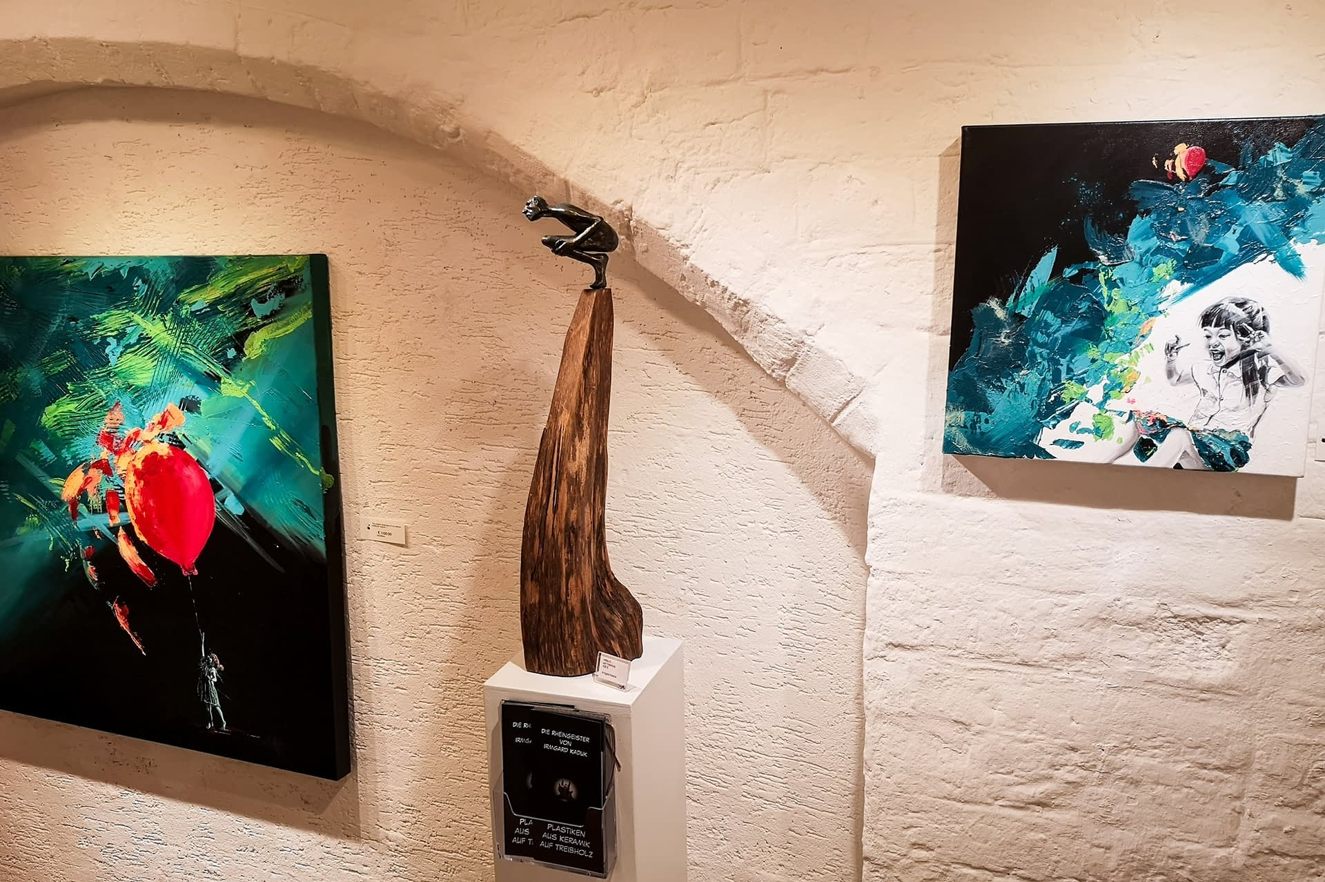 Kunstausstellung Les lignes du chaos: Impression der Creative Wand
