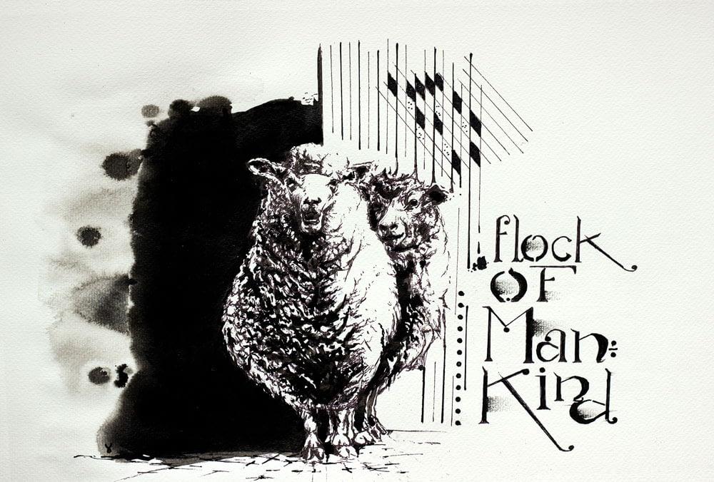 A flock of mankind - Ute Bescht