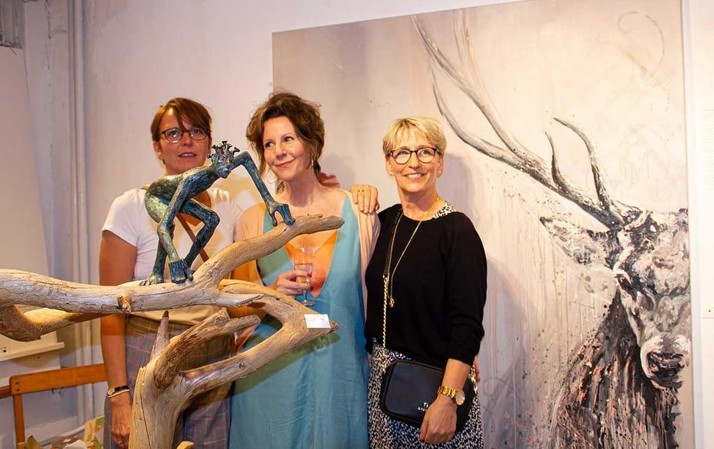 les lignes du chaos Kunstausstellung: Ute Bescht - Sandra Reichel & Heike Fischer