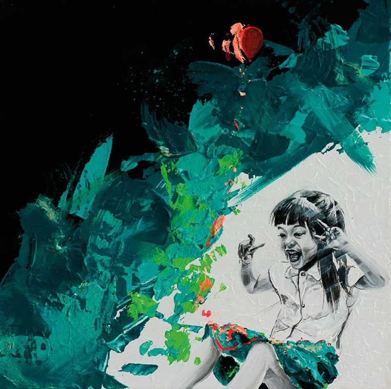 Ute Bescht Kunstwerk: Chaotic Tenderness of my creative childhood - Register 2