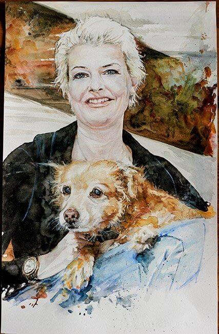 Bescht Portrait: Memories of a pawsoul - Aquarell
