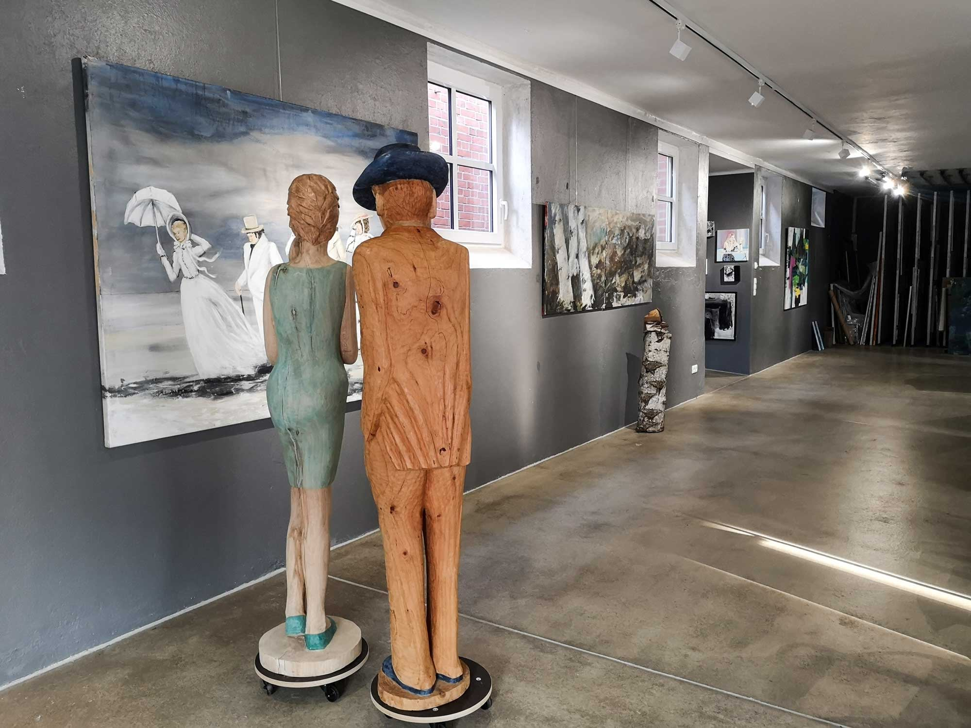 #ohnekunstistesgrau: Im Atelier Niehaus 1 bei Karin Bliefernich in Bassum geht es weiter