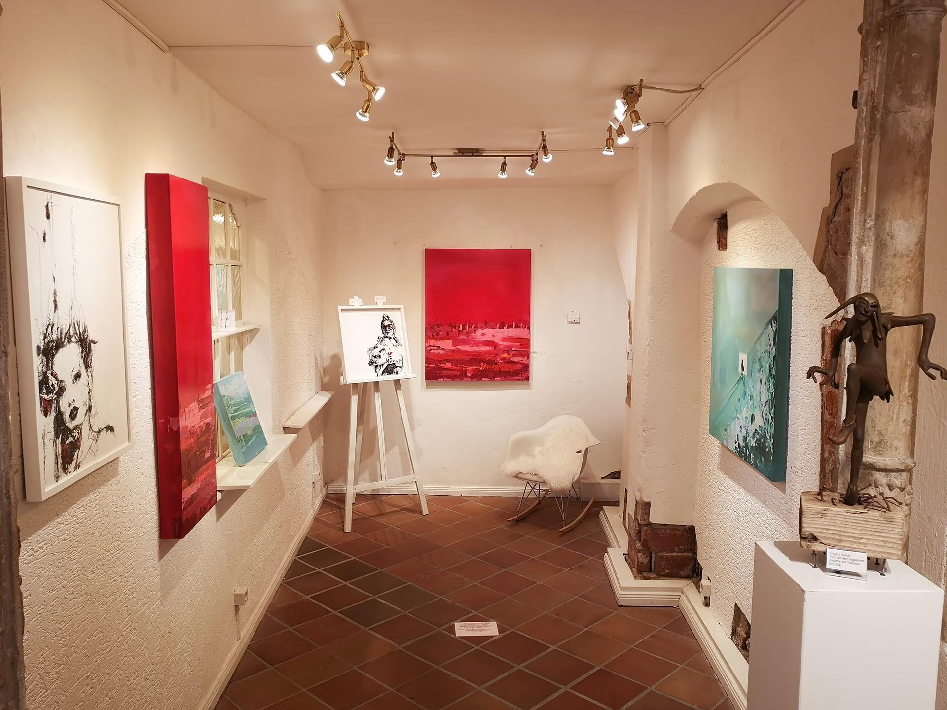 Kunstausstellung Les lignes du chaos: Impression des entrée séparée