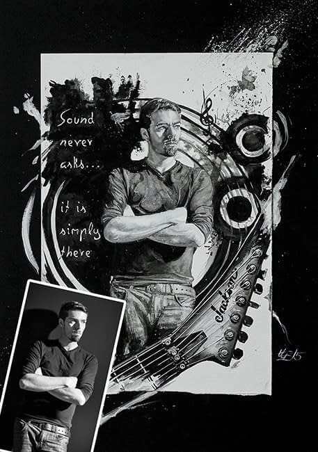 Portrait Aquarelle Konzeptkunst: Privat Portrait