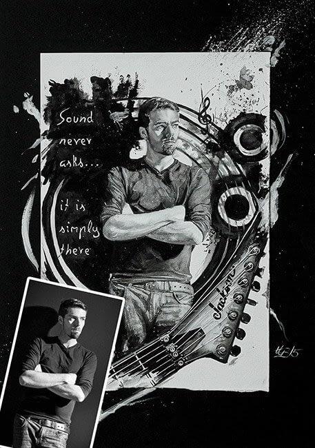 Bescht Portrait - Konzeptportrait Tusche
