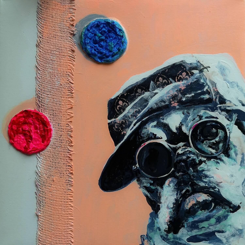 Ute Bescht - Acryl und Öl Kunstwerke Konzept Arbeiten großformatig in Realismus und Surrealismus samuel says