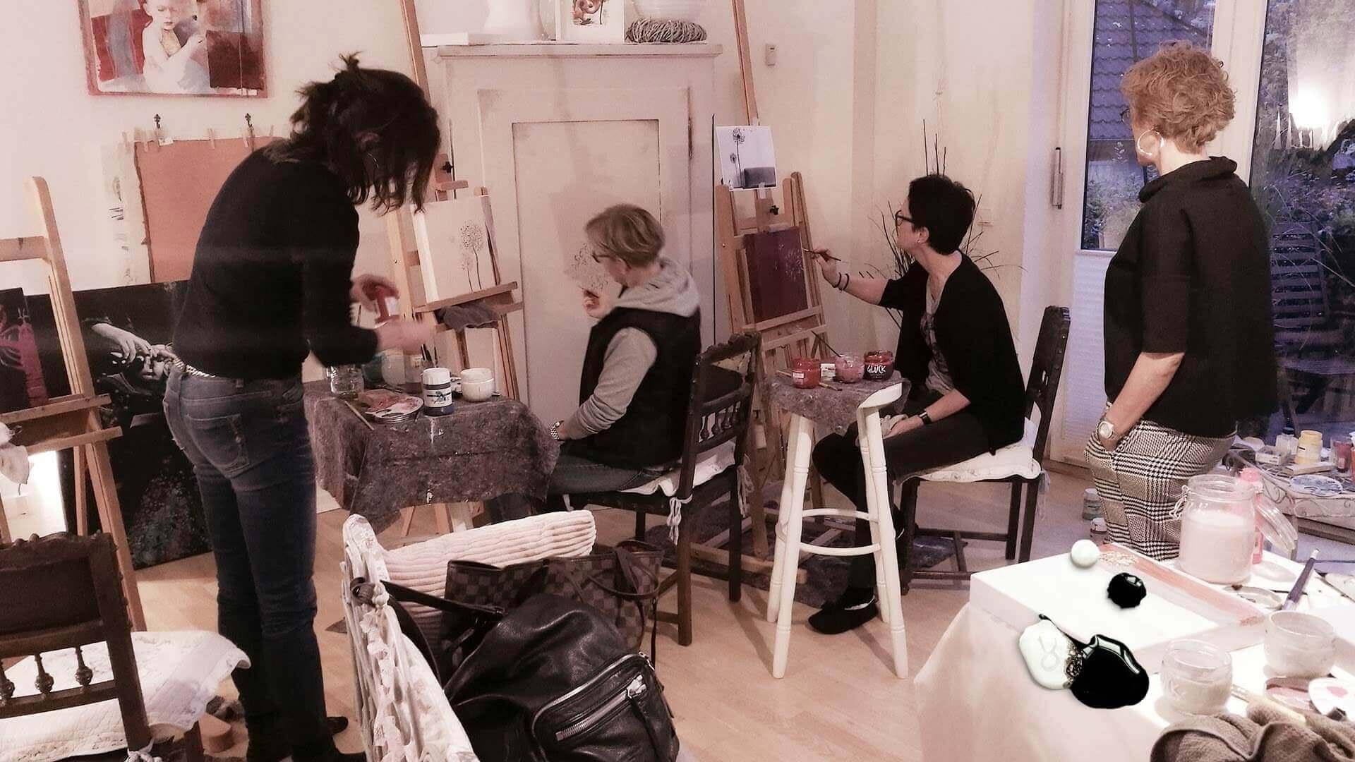 Bescht ARTDAY - Freundinnen Tag mit Kunst - exklusiver Kurs Malerei in Bremen