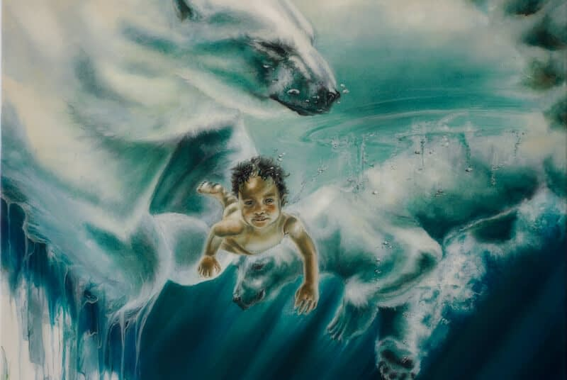 Leinwand & Konzeptarbeiten Ute Bescht Kunst galerie d' art Icebirth