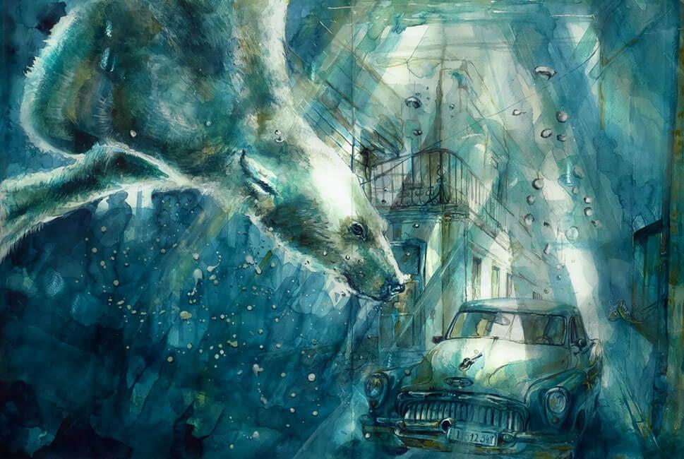 Aquarell und Tusche - Ute Bescht - CUBA 2039