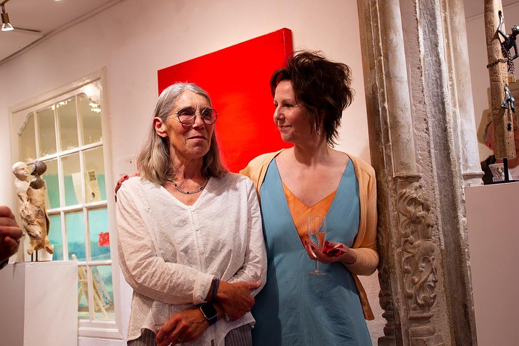 Les lignes du chaos Kunstausstellung Apogeé - Irmgard Kaduk, Bildhauerin, Skulpturen, mit Seele und Verstand- wie sie!