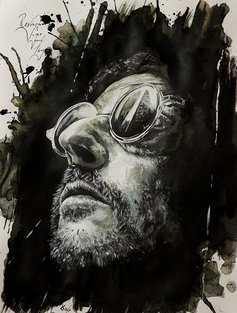 Bescht Portrait: LEON-der Profi ( Jean Renó)- Tusche