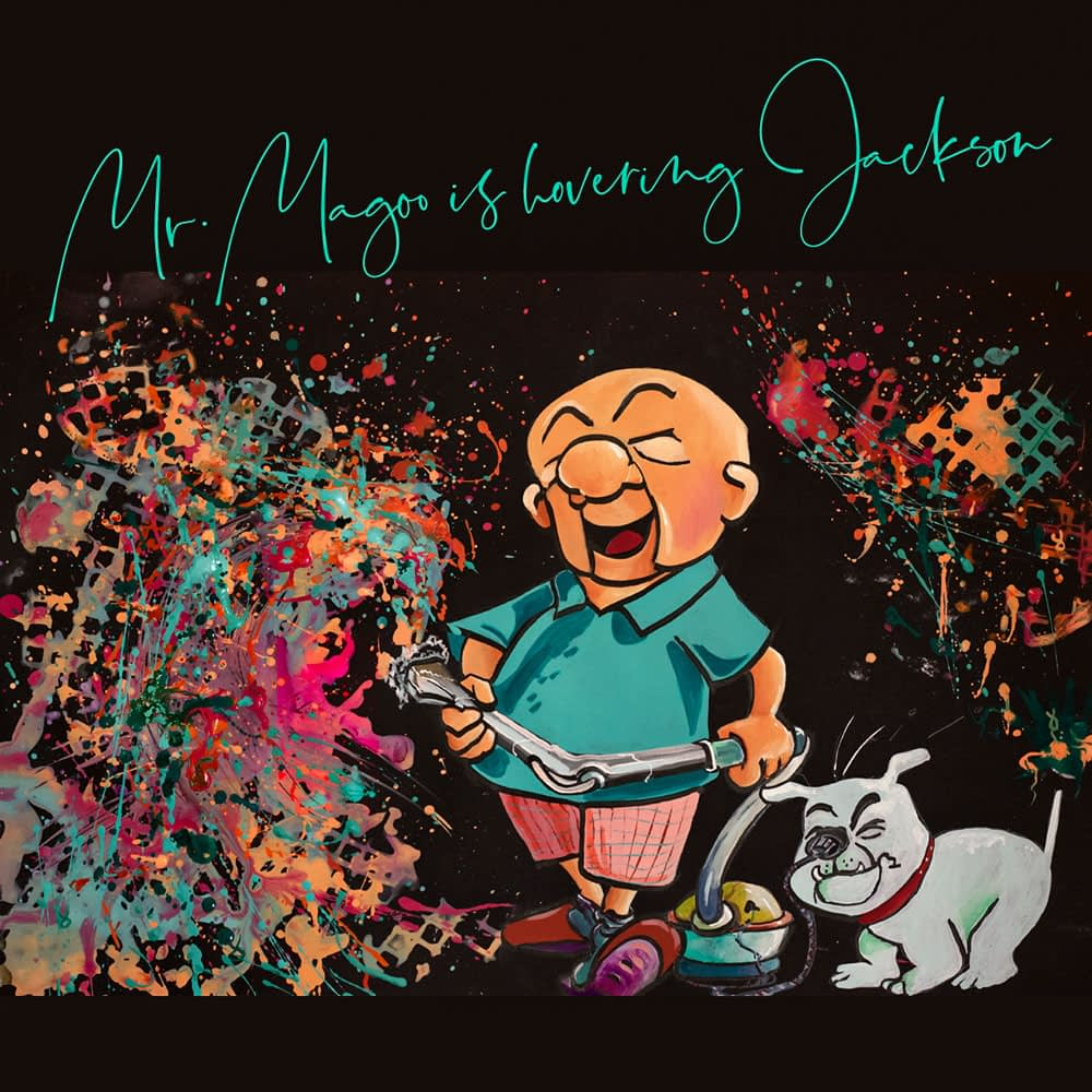 Mr. Magoo is hovering Jackson - Pop Art Ute Bescht - Toon Series with Jackson Pollock