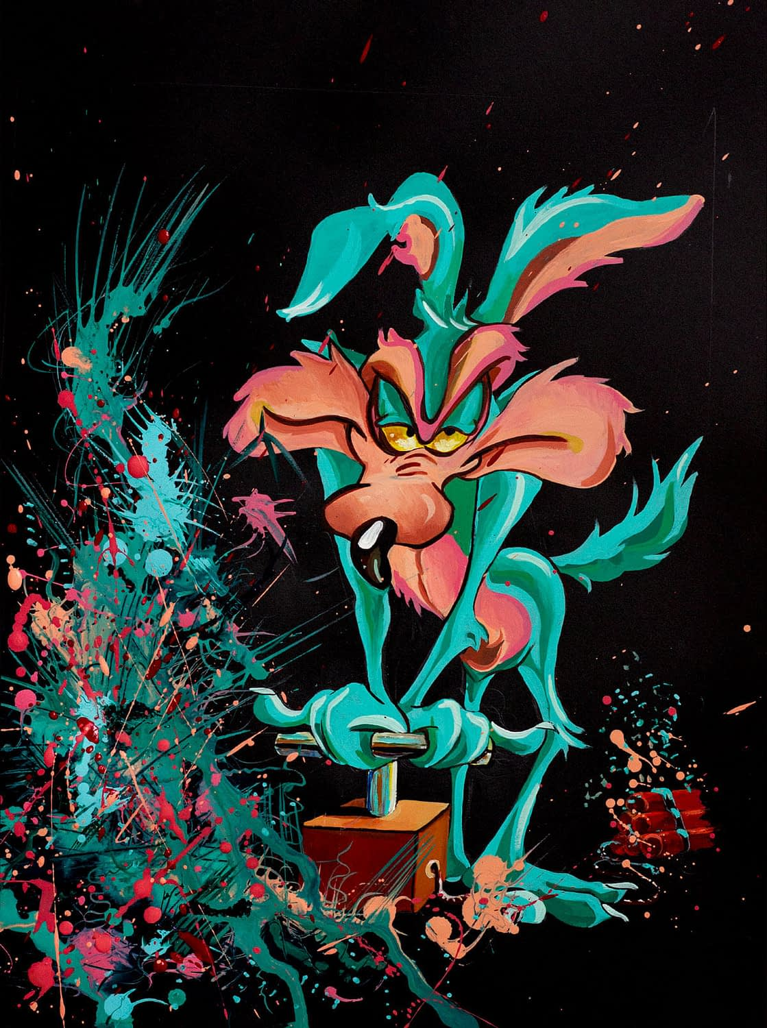 Jackson Series : Wile E. is blowing Jackson - Art Print in Show
